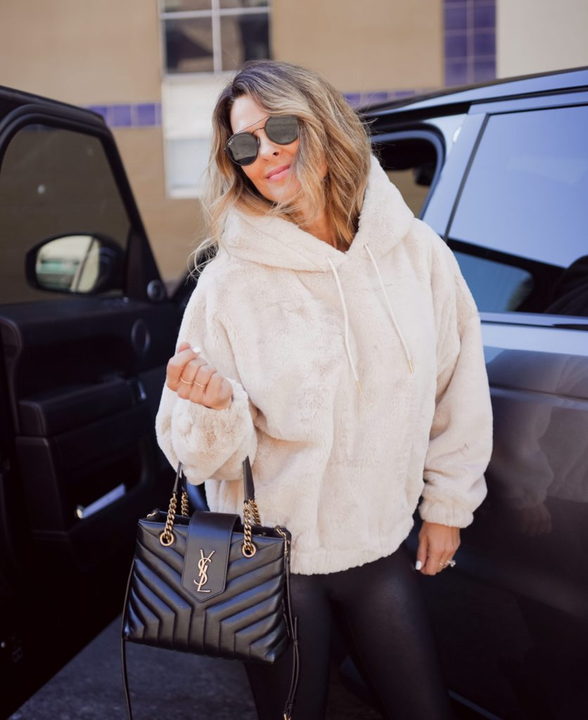Austin fashion blogger sharing how to elevate your loungewear with a cozy chic hoodie