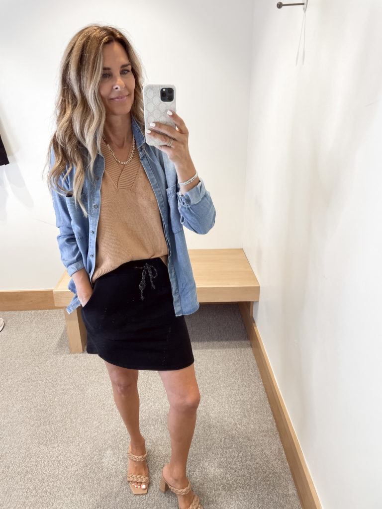 fall outfit, evereve style, her fashioned life