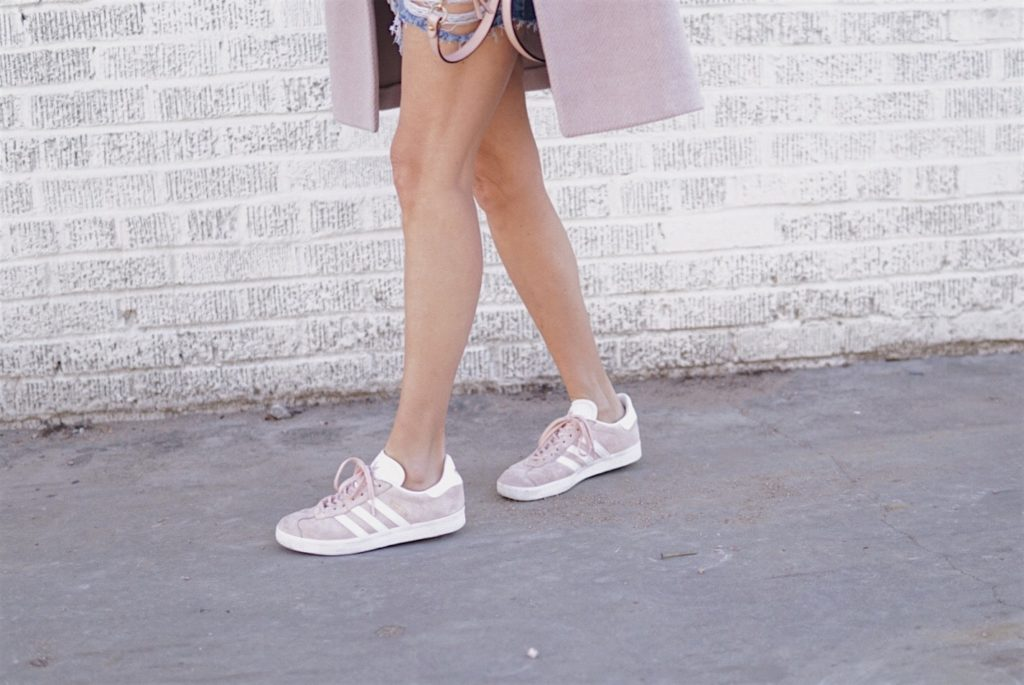 Adidas Pink Sneakers - Valentine's Day Style by Her Fashioned Life